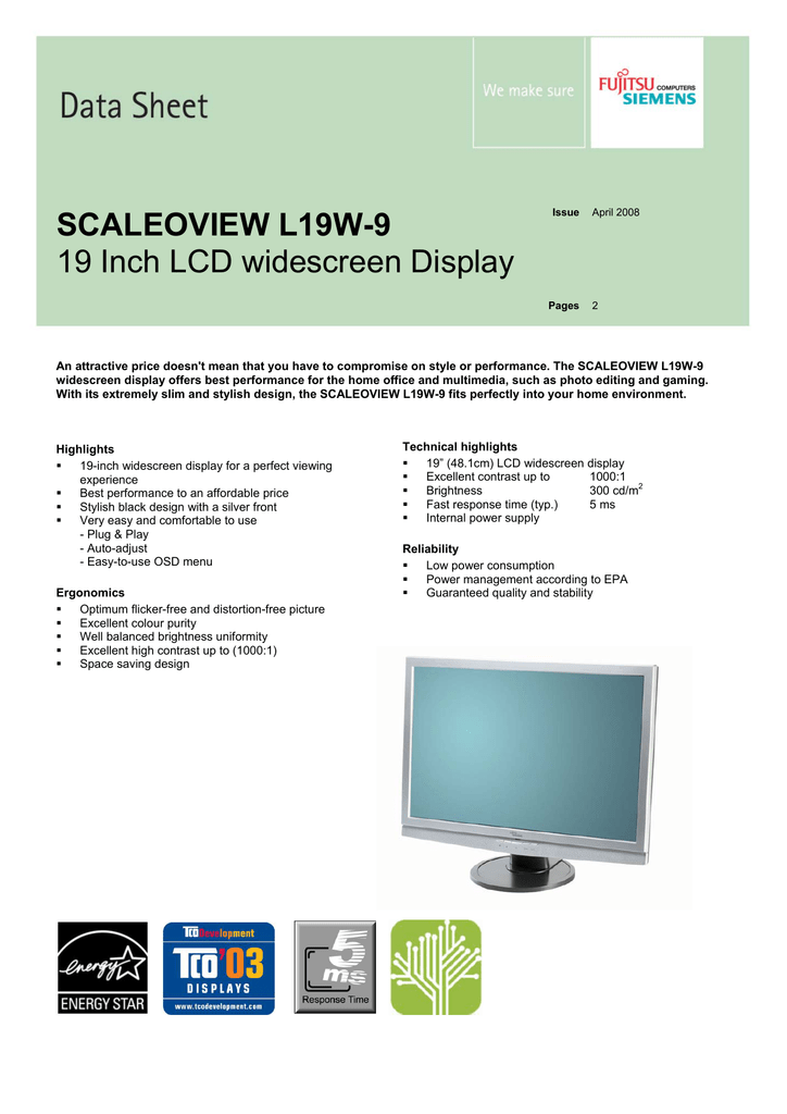 FUJITSU SIEMENS SCALEOVIEW L24W-2 DRIVER WINDOWS XP